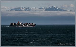 Mount Olympus from Victoria Harbor, BC, Canada