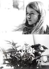 228/365 (jadeseguela) Tags: old light summer portrait blackandwhite bw woman white black art film nature girl beautiful 35mm vintage hair nose eyes friend long wind feminine memories longhair lips 365 eyelid vibe filmphotography 365project jadeseguela