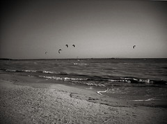 Spiagge Bianche e kite surf (OLDLENS24) Tags: white kite vent surf waves wind go surfing kitesurfing tuscany beaches toscana toscane kitesurf vento onde spiagge bianche blanches vada plages aller flots