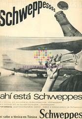 "Shweppes. ""Ahí está Schweppes"". 1960"