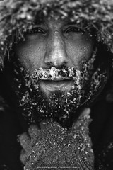 Blizzard (envitre1) Tags: winter portrait bw white snow storm black men canon deutschland model outdoor saxony german lower blizzard harz niedersachsen