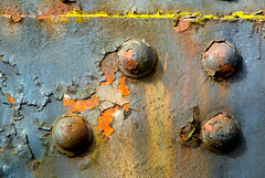 Hidden color.jpg (docoverachiever) Tags: bridge abstract macro metal oregon portland four rust colorful paint walk bolt peel multicolor bigmomma