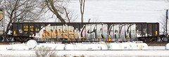 Jays/Cram (quiet-silence) Tags: railroad art train graffiti railcar gondola graff jays freight csx cram fr8 gfl csxt491554