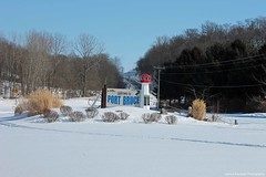 Welcome to Port Bruce (Joanna Kurowski Photography) Tags: winter snow ontario canada ice outdoors boat village portbruce