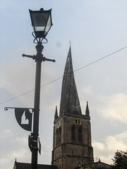 Chesterfield - crooked spire (2) (nican45) Tags: church architecture canon football derbyshire powershot spire lamppost chesterfield stmarys leaguetwo sx210 sx210is