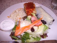 GEDC4508 (Darryl James - White Sheep) Tags: california lunch greek restaurant sandiego greeksalad pointloma dolmades pastitsio ricepilaf lunchcombo georgiasgreekcuisine