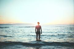 Calm (Farhad Ghaderi) Tags: ocean sunset sea portrait sky mer film nature canon landscape photography mar waves fineart calm analogue conceptual sillhouette