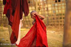 Hi ! (huard.martin) Tags: portrait people beautiful face kids portraits canon children kid asia child burma sigma monk monks myanmar chin 6d novice birmanie rakhine mrauku arakan  birmania    chinvillage eos6d  littlemonk sigma28exdg canoneos6d