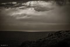 L'oscurit (MikePhotoArt) Tags: bw costa canon landscape eyes turismo salento puglia vacanze lecce 50mm18 mistero leuca blackewhite puntaristola canon60d estremit puntaditalia mikephotoart