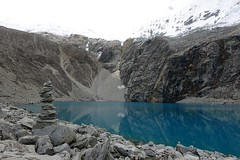 Cairns at Laguna 69 (*Andrea B) Tags: camp mountain lake mountains peru southamerica june america spring south hike blanca laguna cordillera quebrada 2015 sesenta nueve laguna69 cordillerablanca llanganuco sesentaynueve quebradallanganuco june2015 spring2015 alvaradoadventures peruandesguide
