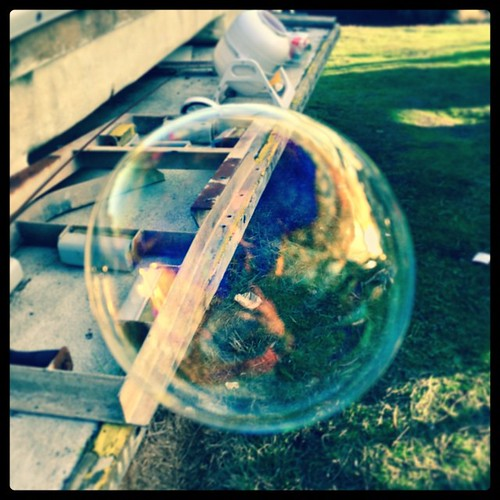 178/365 • going through my fat photo roll (need to do some serious culling) and found a bubble! • #178_2015 #latergram #bubble #boatyard #Winter2015 #big
