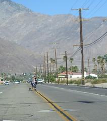 July 10, 2015 (2) (gaymay) Tags: california gay love happy traffic desert palmsprings telephonelines poles jaywalking triad powerpoles