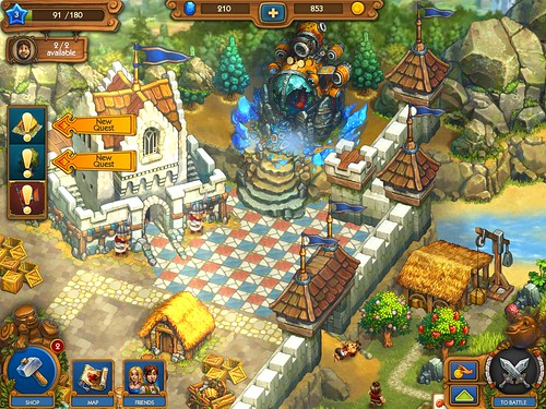 The Tribez & Castlez - Play with friends! Gameplay: screenshots, UI
