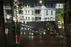 Day & night. (Ali Imanov) Tags: city travel summer sun building architecture night composition lumix design exposure day cityscape geneva balcony dmc 14mm gh4 imanov