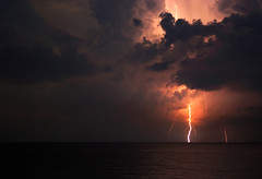 Cloudy Light (lightonthewater) Tags: thunderstorm seagrovebeach ocean lightning lightonthewater florida floridathunderstorm clouds storm sky gulfofmexico