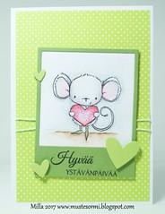 Heartfelt (Milla*Mustesormi) Tags: card purpleoniondesigns heartfelt papersmooches lawnfawn dekorette
