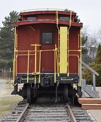 South Lyon, Michigan (6 of 8) (Bob McGilvray Jr.) Tags: southlyon michigan caboose wood wooden red cupola co chesapeakeohio railroad train tracks display public museum depot