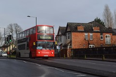 NXWM BU04 BKA - 4575 (North West Transport Photos) Tags: nationalexpresswestmidlands nxwm transbus alx400 transbusalx400 transbustrident dennistrident alexander bu04bka 4575 yardleywood railwaystation bus