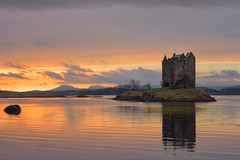 Castle Stalker sunset (Pete Rowbottom, Wigan, UK) Tags: castlestalker scotland scottishhighlands scotlandlandscape lochlinnhe oban lismore isleofmull mountains loch sunset dusk colourfulsunset colourful history castle lochaber argyll scottish coast dramatic peterowbottom island scottishheritage scottishcastle still serene wow nikond750 waterreflections water outdoor amazing reflections clouds hils goldenhour goldenlight peaceful sun sunlight light warmth winter landscape uk uklandscape ukcoastline beautiful