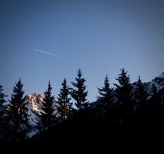 Via. (SoleTempesta) Tags: cielo sky dolomiti trentino alto adige italia italy soletempesta aereo via volare azzurro alberi trees scia volo fuggire monti