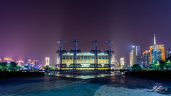 Get So Haunted (Tim van Zundert) Tags: hdr guangdong tianhe guangzhou haixinshaisland square photography architecture stadium building city cityscape skyline panorama night evening longexposure china sony a7r voigtlander 21mm ultron