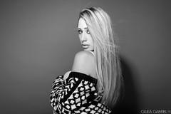 GIOVANNA - STUDIO PORTRAIT 2017 (Giulia Gabrieli Fotografia) Tags: portrait ritratto blondie model fashion grey studio light setup profoto eyes blue beautiful posing desigual sguardi creative shooting studiofotografico face viso nikon d610 biancoenero blackwhite bw monochrome