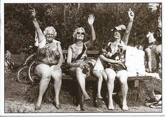 From Orphalia (AunteyEm/MichelleW) Tags: friends blackandwhite bw blackwhite women elderly grandmothers bathingsuits oldladies bwpostcards blackwhitepostcards