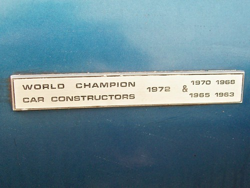 140 Lotus World Championship Badge (1972)