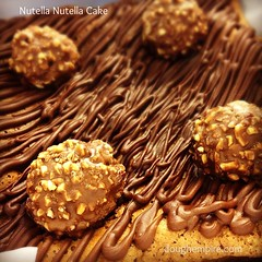 Nutella Cake (with lots of Nutella) topped with Ferrero Rocher (Dough Empire) Tags: cakes cake square squareformat nutella hefe ferrerorocher squarecakes iphoneography instagramapp uploaded:by=instagram doughempire wwwdoughempirecom
