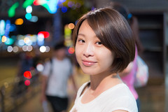 Charlotte (Guess how old is she?) (Taipei street life) Tags: portrait smile night canon asia weekend taiwan sigma taipei 台灣 6d 淡水區 新北市