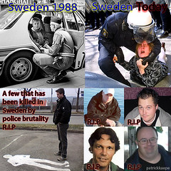 Sweden now and then (patrickkaepe) Tags: sweden police swedish violence then now brutality