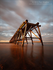 Steetley Pier (Evening Reflections) (ScudMonkey) Tags: steetley pier c2013paulbradley northsands hartlepool abandoned sea coast beach reflections evening canon 6d ef1740mmf4l nd1000 nd110 landscape seascape manfrotto 804rc2 055xprob