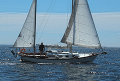 Jib & Mizzen (cjh44) Tags: ontario sailboat sailing sunday sails kingston collinsbay alliedseawind