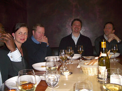 15. The chief's table - Roger, Mary, Matt, Mike & Alan. Petrus, London