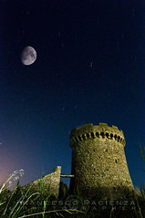 The tower - 7149 (Francesco Pacienza - Getty Images Contributor) Tags: blue moon tower night stars torre luna notturna notte startrails stelle