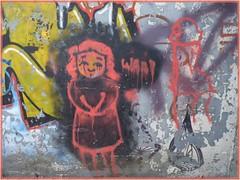 Fantme...tte ? (bowb59) Tags: street art tags ruines valenciennes urbex friche anzin vallourec