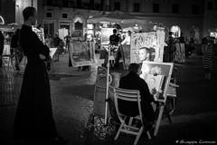 Portrait of a priest (Giuseppe Cammino) Tags: portrait italy rome roma canon eos 50mm italia bokeh 5d priest piazzanavona ritratto ef ef50mmf18ii lazio prete canoneos5d 2013 canoneos5dmarkiii 5dmarkiii