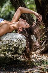 Ashley (JanellMarie_) Tags: portrait beach rock pose hair intense model long dramatic
