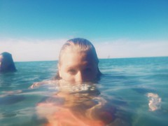 Lake Michigan (Chloe Lillash) Tags: blue camping summer portrait sky lake nature water swimming swim canon fun maddie cool eyes michigan lakemichigan waterproof