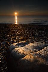 (Callaghan69) Tags: sea sky sun seascape beach rock sunrise reflections rocks foreground nikond3100