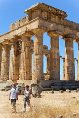 Selinunte (muckster) Tags: travel family italy ruins sicily uschi selinunte greektemple günther