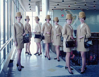 Air Hostess Uniform 1965 Gold 003