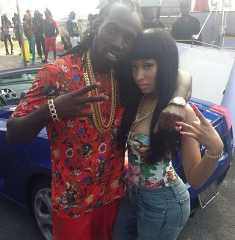 Mavado & Nicki Minaj shooting the video for Give It All TO me