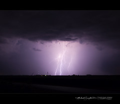Late August Lightning (StormLoverSwin93 | Into the Storm) Tags: longexposure blue light summer sky storm rain weather night canon illinois scary purple violet bolt electricity static strike thunderstorm lightning charge stormclouds summerstorms discharge nightlandscape illinoisthunderstorms