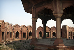 Watchtower (William J H Leonard) Tags: city urban india building architecture buildings asian asia fort delhi indian pillar palace ramparts newdelhi historicalsite watchtower redfort southasia southasian mughal lalqila mughalarchitecture heritagesite lalqilah