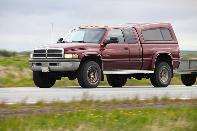 truck iceland diesel maroon pickup dodge ram cummins ísland 2500 turbodiesel