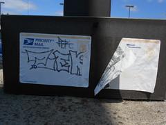 vancouver wa washington graffiti tag sticker slap pacific northwest nw (695129) Tags: vancouver graffiti washington sticker nw mail pacific northwest label tag faded wa weathered slap usps priority fbk