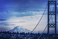 Tacoma Narrows *explore* (West Leigh) Tags: city mountains nature washington pacificnorthwest tacoma mtrainier gigharbor