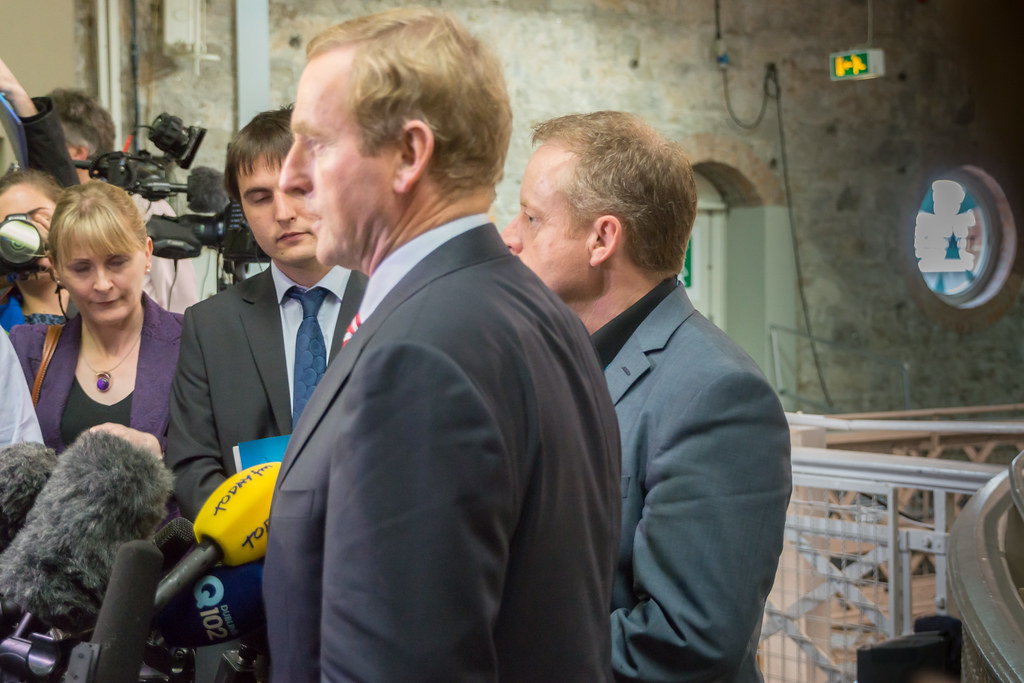 Enda Kenny Visits The Web Summit 2013 In The RDS In Dublin [Ireland] - Day One