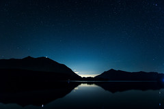 Silence (_flowtation) Tags: trees light alps night munich stars woods forrest berge clear moonlight florian alpen wald moutains wank walchensee garmischpartenkirchen